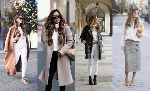 冬季白色毛衣搭配,特别的清新和chic